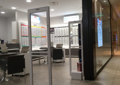 Portique antivol Sensormatic boutique opticien