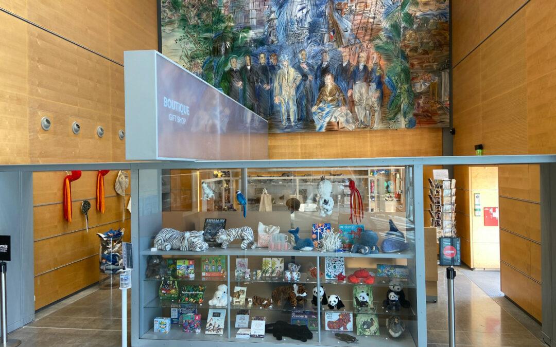 Installation d'un portique antivol à la Grande Galerie de l'Évolution